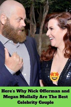 Megan Mullally and Nick Offerman are Hollywood's best couple, and here's why. Cute Couples Goals, Couple Goals, Lace Hairpiece, Nick Offerman, Elizabeth Olsen, Elle Fanning, Keira Knightley, Best Couple, Celebrity Couples