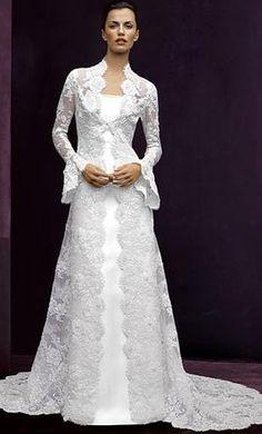high back collar low neckline long sleeve wedding dresses - Google ... cf0dd51a1