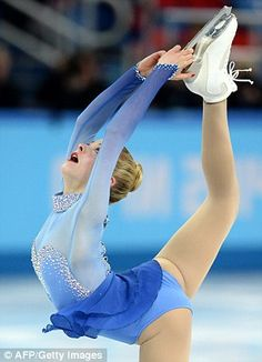 """Gracie Gold (United States) skates her Long Program to """"The Sleeping Beauty"""" at the 2014 Sochi Olympics Olympic Winners, Gracie Gold, Ashley Wagner, Figure Skating Dresses, Team Usa, Winter Olympics, Athletic Women, Olympic Games, Ice Skating"""