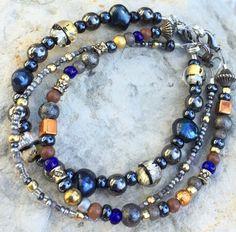 Boho bracelet set handmade beaded bracelet for by crushedcameo
