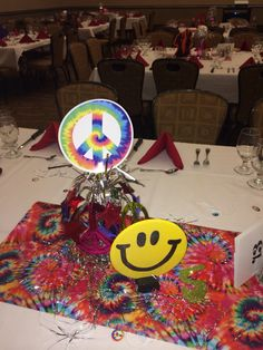 70's Party Centerpiece  By Michelle Andrews, Hailey Andrews & Lindsey Wilhelm