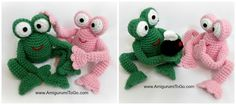 Amigurumi To Go: Froggy With Egg and Without - free crochet pattern