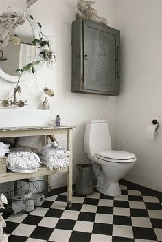 urban farmhouse #toilet #black #white