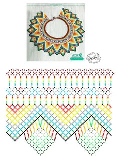 Diy Necklace Patterns, Bead Loom Patterns, Beaded Jewelry Patterns, Peyote Patterns, Beading Patterns, Seed Bead Projects, Beadwork Designs, Bead Loom Bracelets, Beaded Crafts