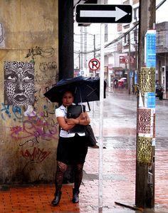 siempre the rain (Bogota) Urban Aesthetic, Urban Art, South America, Prompts, Cities, Street Art, English, Fresh, Portrait