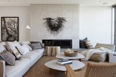 The Living Room - Cliff Top House by Hare + Klein. Photo: Jenni Hare.
