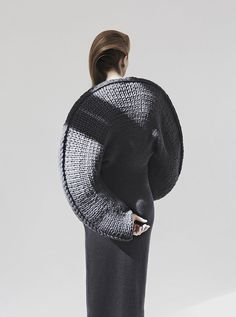 Sculptural Knitwear Design - knitted dress with circular silhouette - soft geometric fashion; wearable art // Matilda Norberg- Tap the link now to see our super collection of accessories made just for you! Geometric Fashion, 3d Fashion, Knitwear Fashion, Knit Fashion, Fashion Details, Editorial Fashion, Fashion Design, Fashion Story, Costume Original