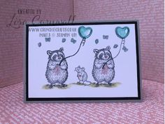 SMOKY SLATE RACOONS 10 Envelope, Send A Card, Under My Umbrella, Blue Balloons, Love Hug, Basic Grey, Happy Mail, Digital Stamps, Stampin Up Cards