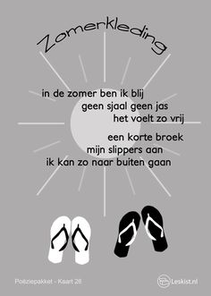 Opzegversje Zomerkleding Poem Quotes, Words Quotes, Poems, Poetry Projects, Poetry For Kids, Group Activities, Summer Crafts, Things That Bounce, Summertime