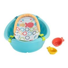 Fisher Price Rinse 'n Grow Tub is a 3-stage tub that grows with baby and provides optimal support, comfort, and convenience during every stage from newborn to toddler.