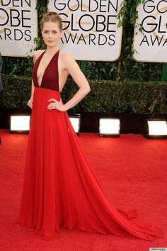 amy adams...love that red-tone color block dress! ♥