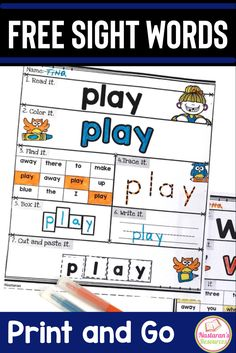 Free Printable Sight Words Worksheets are designed to cover all topics in Sight Words. These worksheets help your students practice more in sight words. Activities For 1st Graders, Sight Word Activities, Phonics Activities, Language Activities, Kindergarten Freebies, Kindergarten Activities, Kindergarten Reading, Preschool, Sight Words Printables