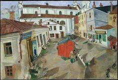 Arte no Mercado  Marc Chagall –'El mercado, Vitebsk',  1917  (JA, Ago17)