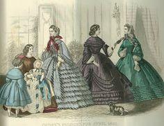 .História da Moda.: Século XIX - Parte 2: A Moda na Era Vitoriana Nesta época as botas entraram na moda, com saltos mais altos e amarradas até o meio das canelas.