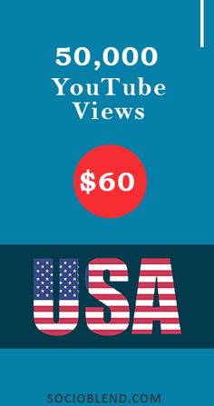 Get 50,000 Youtube views for just $60. #Increase #YouTube #Views #USA #BuyYoutubeViews