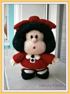 Fieltrotopía: agosto 2012 Wool Dolls, Felt Dolls, Felt Diy, Felt Crafts, Wet Felting, Needle Felting, Hobbies And Crafts, Diy And Crafts, Felt Penguin