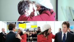 At the Airport - Hugh Grant & Martine McCutcheon in Love Actually Love Actually 2003, Hugh Grant, Book Tv, You Are Perfect, Beret, Plays, Party Themes, Movie Tv, Fashion Beauty