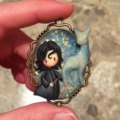 Harry Potter Dolls, Snape Harry Potter, Harry Potter Charms, Theme Harry Potter, Severus Snape, Cute Polymer Clay, Polymer Clay Dolls, Polymer Clay Charms, Polymer Clay Projects