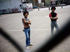 Meryl Meisler | Jose and Classmate in Schoolyard Chillin' Bushwick, Brooklyn, June 1982