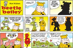 Beetle Bailey Comic Strip for September 2013 Cartoon Jokes, Funny Cartoons, Beetle Bailey Comic, Comic Book Characters, Comic Books, Mort Walker, Calvin And Hobbes, Comic Strips, The Funny