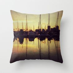 Marina Bay Lines Throw Pillow by RichCaspian - $20.00 #pillows #throwpillow #case #cover #pillow #homedecor #brown #amber #copper #bronze