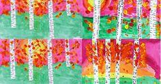 ART with Mrs. A: 3rd Grade Autumn Birch Landscapes
