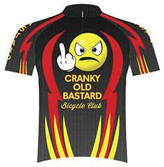 Primal Wear Cranky Old Bastard Bicycle Club Cycling Jersey Mens XXL Short  Sleeve Red Yellow Black 9d55c1867