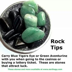 Crystals for Luck: blue tigers eye, green adventurine Crystals Minerals, Rocks And Minerals, Crystals And Gemstones, Stones And Crystals, Gem Stones, Crystal Magic, Crystal Healing Stones, Healing Rocks, Crystal Cluster