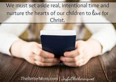Sometimes in order to start intentionally discipling our children, we need to make some hard stops. If you're easily distracted or overwhelmed and wonder how to begin making time for what matters most, don't miss this practical and inspirational wisdom.
