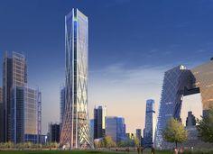 Beijing CBD Tower - Rogers Stirk Harbour + Partners