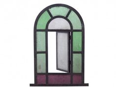 Arched Stained Glass Windows. 21.5 x 35 high