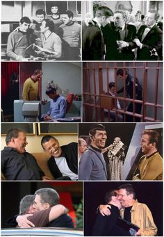 together forever. Kirk and Spock. Nimoy and shatner
