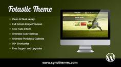 Fotastic WordPress Photography Theme - $39