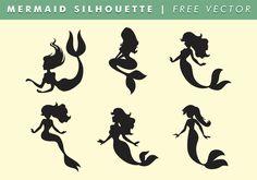 Mermaid Silhouette Vector Free