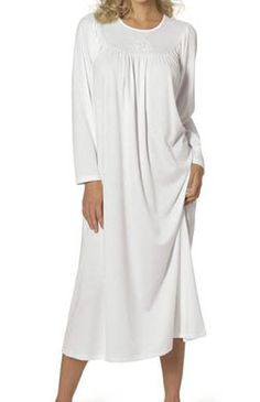 042cae9ae9 Calida 33300 This Calida signature soft cotton nightgown is made of soft  cotton knit for ultra