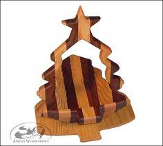 Christmas Tree Collapsible Basket and Trivet