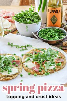 Spring weather is the perfect time to make a lighter pizza with fresh produce. We've got tips for toppings and crusts. Easy Dinner Recipes, Easy Recipes, Pita Bread Pizza, Prosciutto Pizza, Spring Weather, Crusts, Quick Easy Meals, Recipe Ideas