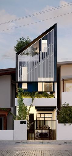 Rosamaria G Frangini | Architecture Houses | Facade solution, House 4x16 on Behance