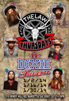 Dixie Tavern Thursday Night Residency in Marietta, GA - Winter 2013