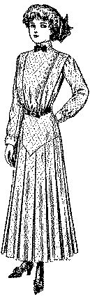 McCall Pattern #3373: Misses' Shirt-Waist Dress with Skirt Yoke: Circa 1911-1912