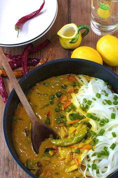 Makaron z Mleczkiem Kokosowym po Tajsku  Just My Delicious