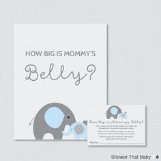 Rubber Ducky Baby Shower How Big Is Mommy& Belly Game - Printable Baby Shower Belly Guessing Game, Guess Belly Size in Yellow - by ShowerThatBaby Baby Shower Candy, Baby Shower Games, Baby Boy Shower, Elephant Baby Showers, Baby Elephant, Elephant Theme, Purple Elephant, Document Printing, Guessing Games