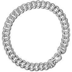 David Yurman Buckle Chain Necklace with Diamonds ($4,300) ❤ liked on Polyvore featuring jewelry, necklaces, silver, david yurman, cross necklace, diamond chain necklace, womens jewellery and body chain jewelry