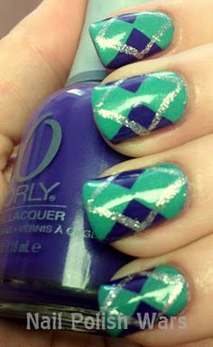 argyle cuteness- so creative! must try this soon!