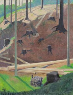 Carl Krall (1891-1975), Forest glade, 1930s.  oil on canvas