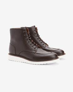 Vegan Leather Sneaker Boots