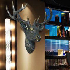 Wall decoration wall mural bar deer clothing store Home Furnishing ornament pendant wall coverings home decoration accessories