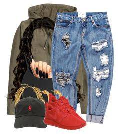 """""""Wicked Wicked Wicked"""" by lexiii-caniff ❤ liked on Polyvore featuring H&M, Topshop, Jose & Maria Barrera, One Teaspoon, Jennifer Fisher, NIKE and Ralph Lauren"""