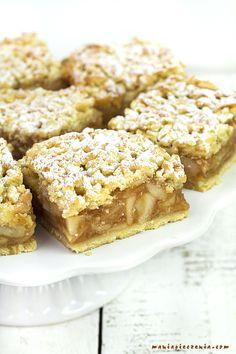 maniapieczenia: Szarlotka tradycyjna Fall Dessert Recipes, Fall Desserts, Cinnamon Biscuits, Shortbread Bars, French Toast Bake, Spiced Apples, Polish Recipes, Apple Crisp, Baked Goods