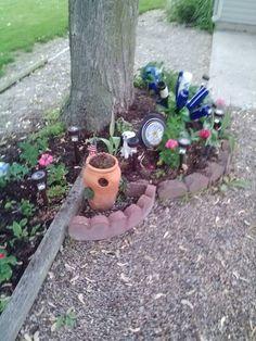 Yard Art around tree